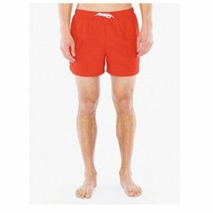 American Apparel Men's Resort Swim Trunk in Poppy,